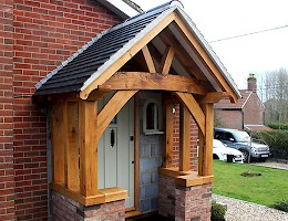 Oak framed Porch extension