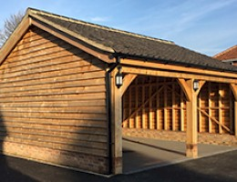 Oak framed carport